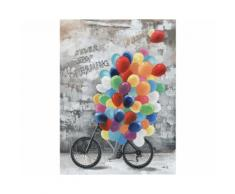 La Casa »Fahrrad mit Luftballons« Ölbild handbemalt 90x120 cm