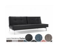 Innovation »Splitback« Klappsofa Styletto Helles Holz/Silber / 521