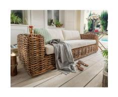 "die Faktorei Rattan-Sofa ""Amalfi"" 220x65x85 cm"