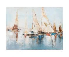La Casa »Segelboote abstrakt« Ölbild handbemalt 120x90 cm