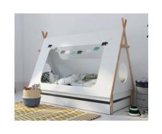BLN Kids TIPI Kinderbett weiss 90x200 cm / mit Bettkasten