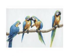 La Casa »Papagaien auf Ast II« Ölbild handbemalt 100x70 cm