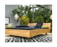 Dormiente Massivholz-Bett Balena Wildeiche 120x200 cm