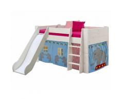 Steens For Kids 617 Spielbett Massivholz 13 White-Wash inkl. Rutsche