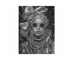 La Casa »Lady mit Kopfbedeckung schwarz weiß« Ölbild handbemalt 90x120 cm