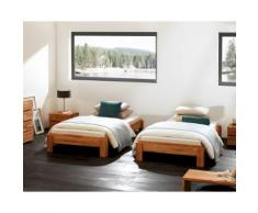 Hasena Wood-Line Massivholz-Stapelbett Amigo 100x200 cm Buche weiss