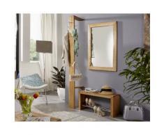 3S Frankenmöbel Massivholz Garderobe Corner Wildeiche hell geölt 30 x 200 x 32 cm
