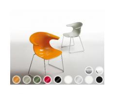 infiniti LOOP Sled Designer-Stuhl AC31 Schwarz matt lackiert / PC103