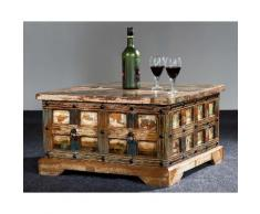 The Wood Times Delhi Couchtisch-Truhe l B 70 x H 40 x T 70 cm