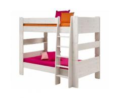 Steens For Kids 615 Etagenbett Massivholz 13 White-Wash 164 cm