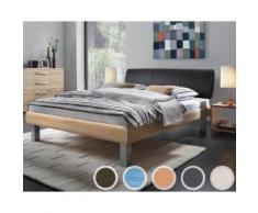 Hasena Soft-Line Bett Mico/Elipsa 140x200 cm Eiche-sägerauh