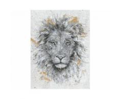 La Casa »Löwenkopf schwarz weiß« Ölbild handbemalt 90x120 cm