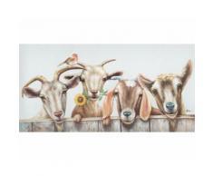 La Casa »4 Ziegen« Ölbild handbemalt 140x70 cm