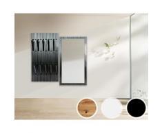 Massivholz Piaforte Garderobe / Schwarz lackiert