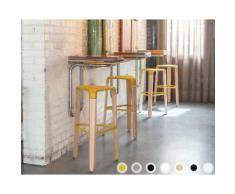 infiniti PICAPAU STOOL Designer-Hocker 65 cm / MAFLG6 Buche weiss