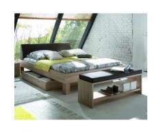 Hasena Top-Line Bett Advance Ivio/Rena 100x200 cm / Eiche sägerauh