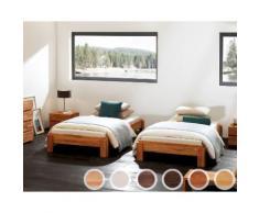 Hasena Wood-Line Massivholz-Stapelbett Amigo 90x200 cm Buche weiss