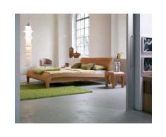 Dormiente Massivholz-Bett Beluga Nussbaum geölt 120x200 cm
