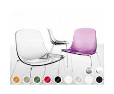 infiniti PURE LOOP 4 Legs Designer-Stuhl AC31 Schwarz matt lackiert /
