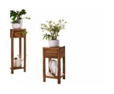 3S Frankenmöbel Massivholz Blumensäule New York Niedrig / B 30 x H