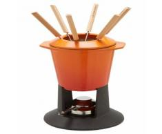 """Fondue-Set """"Gourmand"""", emailliertes Gusseisen, in Ofenrot"""