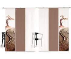 Schiebegardine, Bonsai farbig, emotion textiles, Klettband 6 Stück, grün