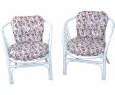 Home affaire Rattanstuhl Rattansessel weiß 4-Fuß-Stühle Stühle Sitzbänke