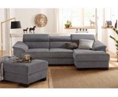 Home affaire Ecksofa Mika, grau