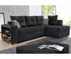 COLLECTION AB Ecksofa, schwarz
