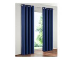 Verdunkelungsvorhang, Solana, my home, Ösen 2 Stück blau Gardinen nach Aufhängung Vorhänge Gardine