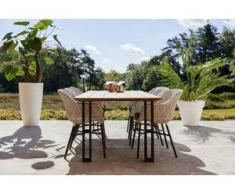 Hartman Delphine Dining Stuhl Set 7tlg inkl. Amsterdam Tisch 240x100cm Schwarz