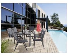 Sieger Trento Gartenmöbel Set 7-tlg mit Gartentisch 165x95 cm Aluminium/Vivodur
