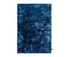 benuta ESSENTIALS Hochflor Shaggyteppich Whisper Blau 140x200 cm - Langflor Teppich für Wohnzimmer
