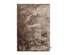 benuta ESSENTIALS Hochflor Shaggyteppich Whisper Hellbraun 140x200 cm - Langflor Teppich für Wohnzimmer