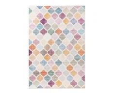 benuta NATURALS Viskoseteppich Yuma Multicolor 80x150 cm - Vintage Teppich im Used-Look