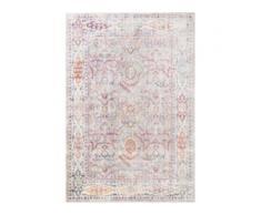 benuta NATURALS Viskoseteppich Yuma Multicolor 120x170 cm - Vintage Teppich im Used-Look