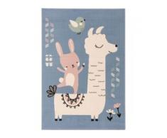 benuta KIDS Kinderteppich Juno Blau 120x170 cm - Teppich für Kinderzimmer