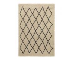 benuta TRENDS Hochflorteppich Tika Cream 133x190 cm - Berber Teppich