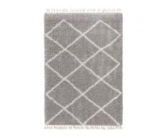 benuta TRENDS Hochflorteppich Ebba Grau 80x150 cm - Berber Teppich