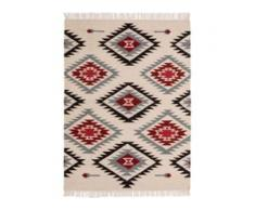 benuta NATURALS Handgewebter Kelim Zohra Beige 70x140 cm - Moderner Teppich für Wohnzimmer