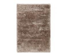 benuta ESSENTIALS Hochflor Shaggyteppich Lea Beige 200x200 cm - Langflor Teppich für Wohnzimmer