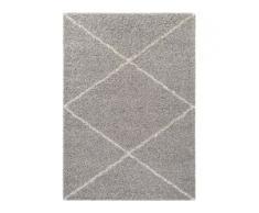 benuta ESSENTIALS Hochflorteppich Beni Grau 200x290 cm - Berber Teppich