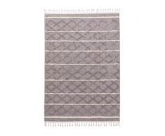 benuta TRENDS Kurzflor Teppich Oyo Hellgrau 80x150 cm - Moderner Teppich für Wohnzimmer