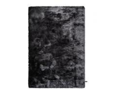 benuta ESSENTIALS Hochflor Shaggyteppich Whisper Anthrazit 80x150 cm - Bettvorleger für Schlafzimmer