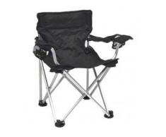 Basic Nature - Travelchair Komfort Kinder - Campingstuhl schwarz/grau