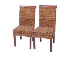 2x Esszimmerstuhl Korbstuhl M45 Stuhl Bananengeflecht ~ hell, ohne Kissen