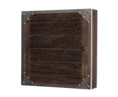 Schlüsselkasten Virginia, Schlüsselschrank Holzbox, Shabby-Look Vintage 27x27x6cm ~ braun