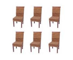 6x Esszimmerstuhl Korbstuhl M45 Stuhl Bananengeflecht ~ hell, ohne Kissen