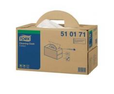 Tork Premium Reinigungstücher 510 - Handy Box, 1-lagige Vliesstofftücher, 38,5 x 43 cm, weiß, 1 Box = 300 Tücher