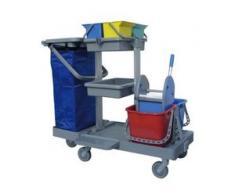Meiko Area car 4 Reinigungswagen, Offener Reinigungswagen aus Kunststoff, L x B x H 113 x 51,5 x 100 cm